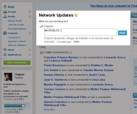 microblog linkedin